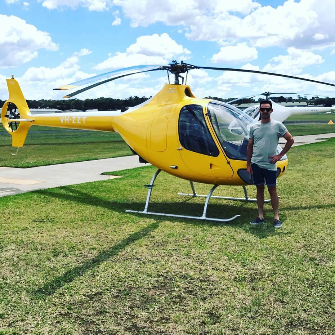 How to start a construction company? Get a big yellow helicopter