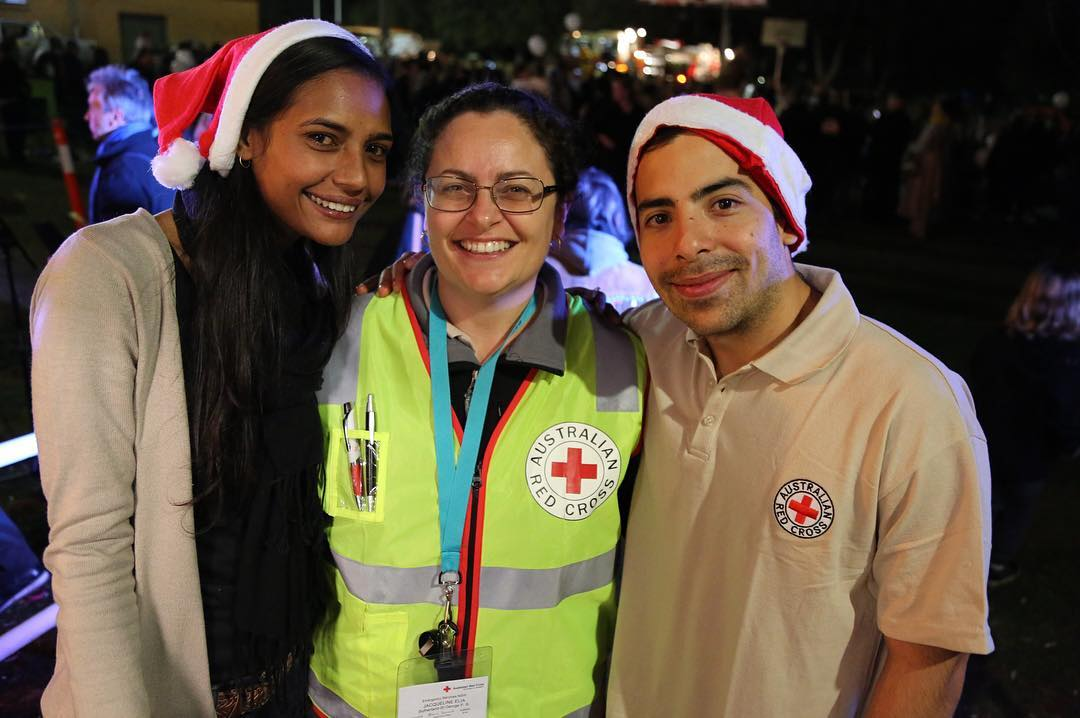 Australian Red Cross celebrating Christmas in July in Kurnell