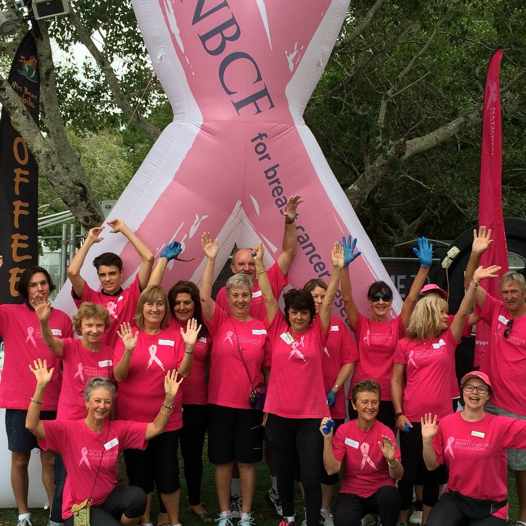 Group of Breast Cancer Volunteers raising money for the not-for-profit sector NBCF