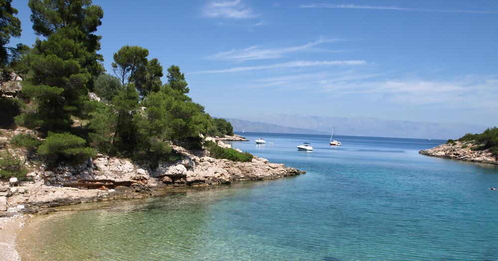 Adriatic sea, pristine Pakleni - amazing islands, Croatia