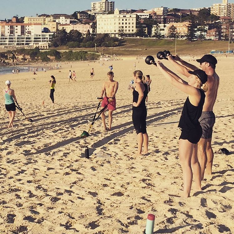 phatfitbondi Beach training session