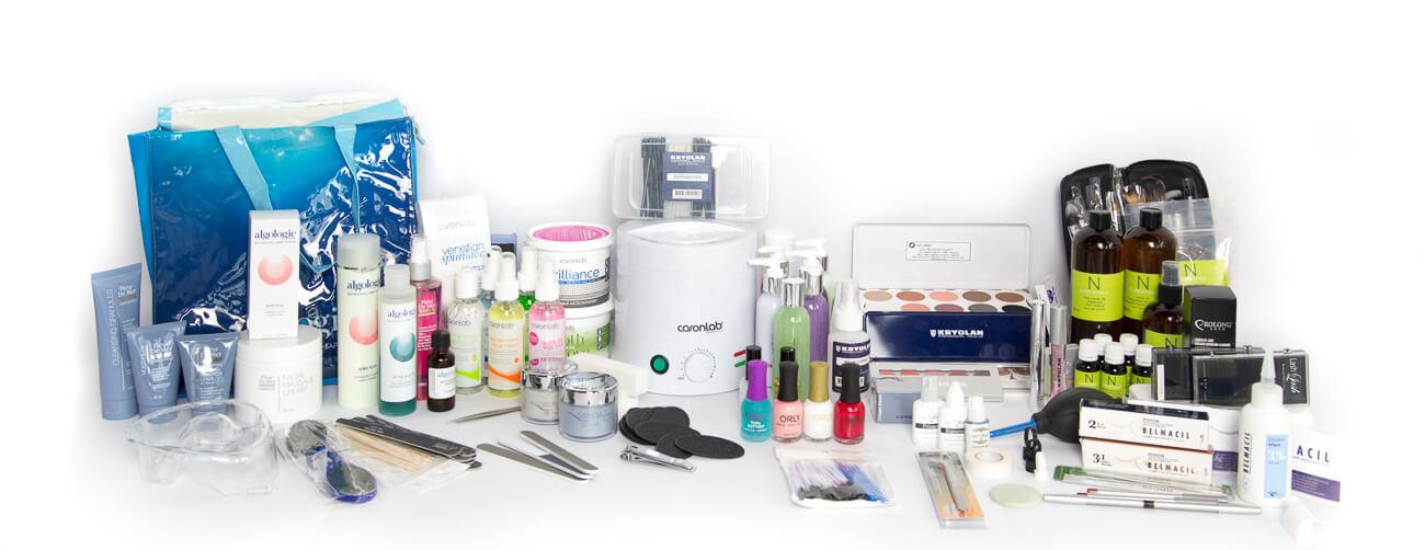 Diploma of Beauty Therapy makeup, facial, mani, pedi, lash, waxing, facial and body oil kit