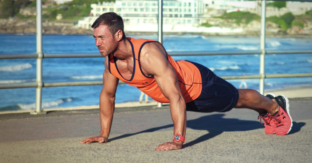 Quick exercises (pushups) to make you fit fast with fitness trainer Matt Burns