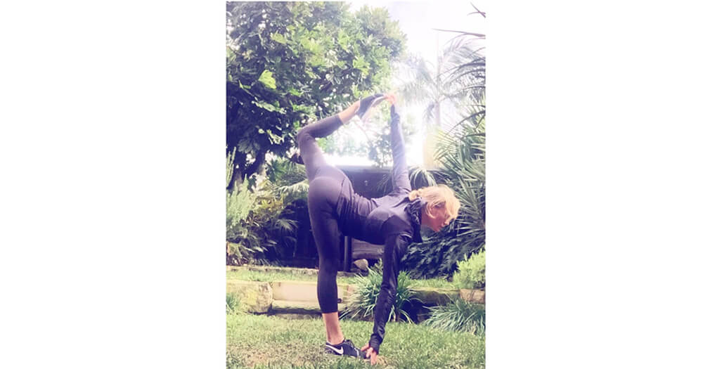 Sarah Berry yoga pose