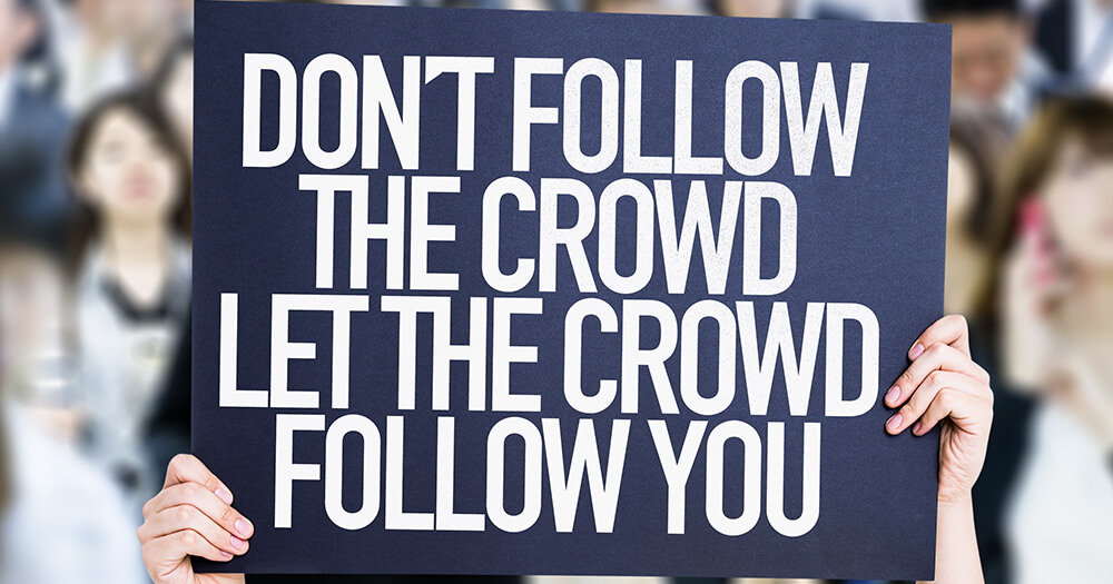 Don't follow the crowd, find your niche