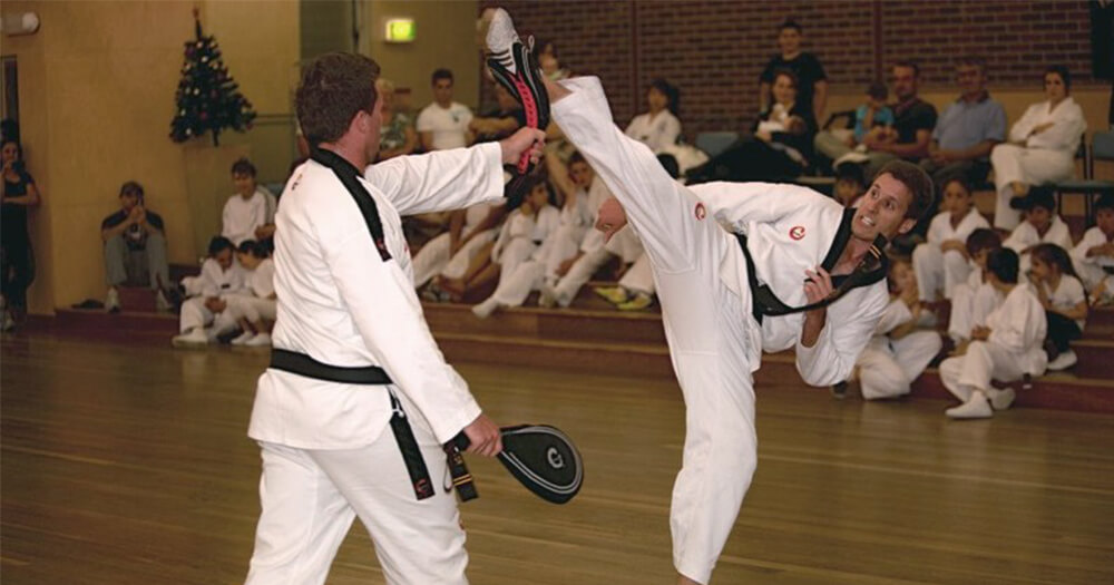 Taekwondo training - Modern Martial Art