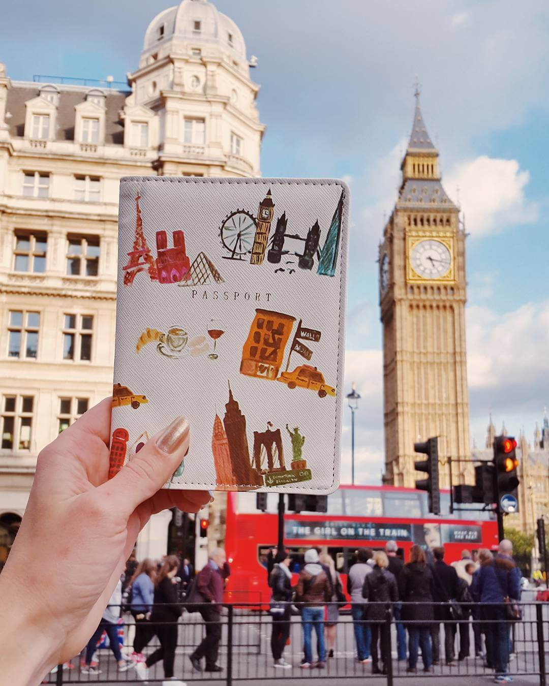 Big Ben and funky passport holder