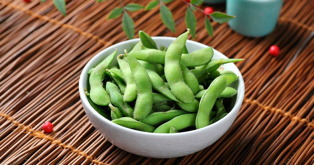 Salted edamame beans