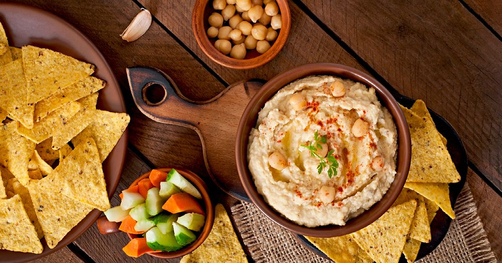 Healthy hummus - chickpeas