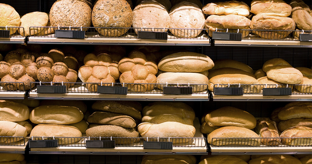 White foods, bakery bread