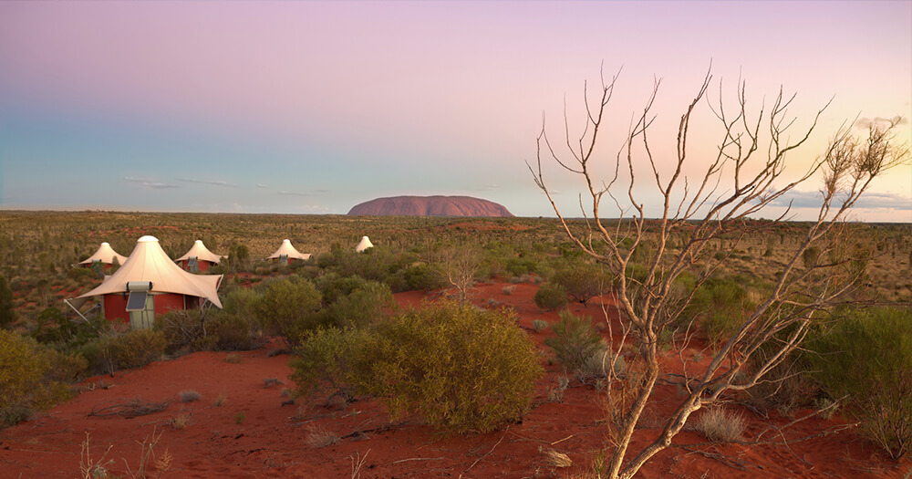Longitude 131, Uluru, Australia, aerial view