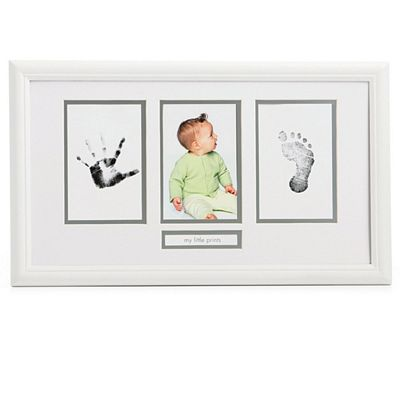 Pearhead Babyprints Photo Frame White Ttn Baby Warehouse