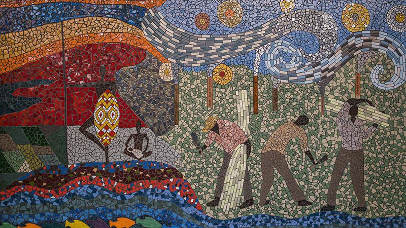 Mercer Lane's Mosaic Artwork, Ingham