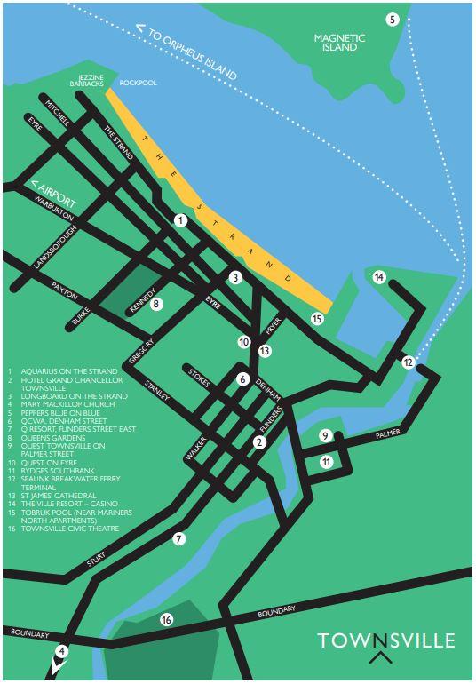 Townsville Map Australian Festival of Chamber Music
