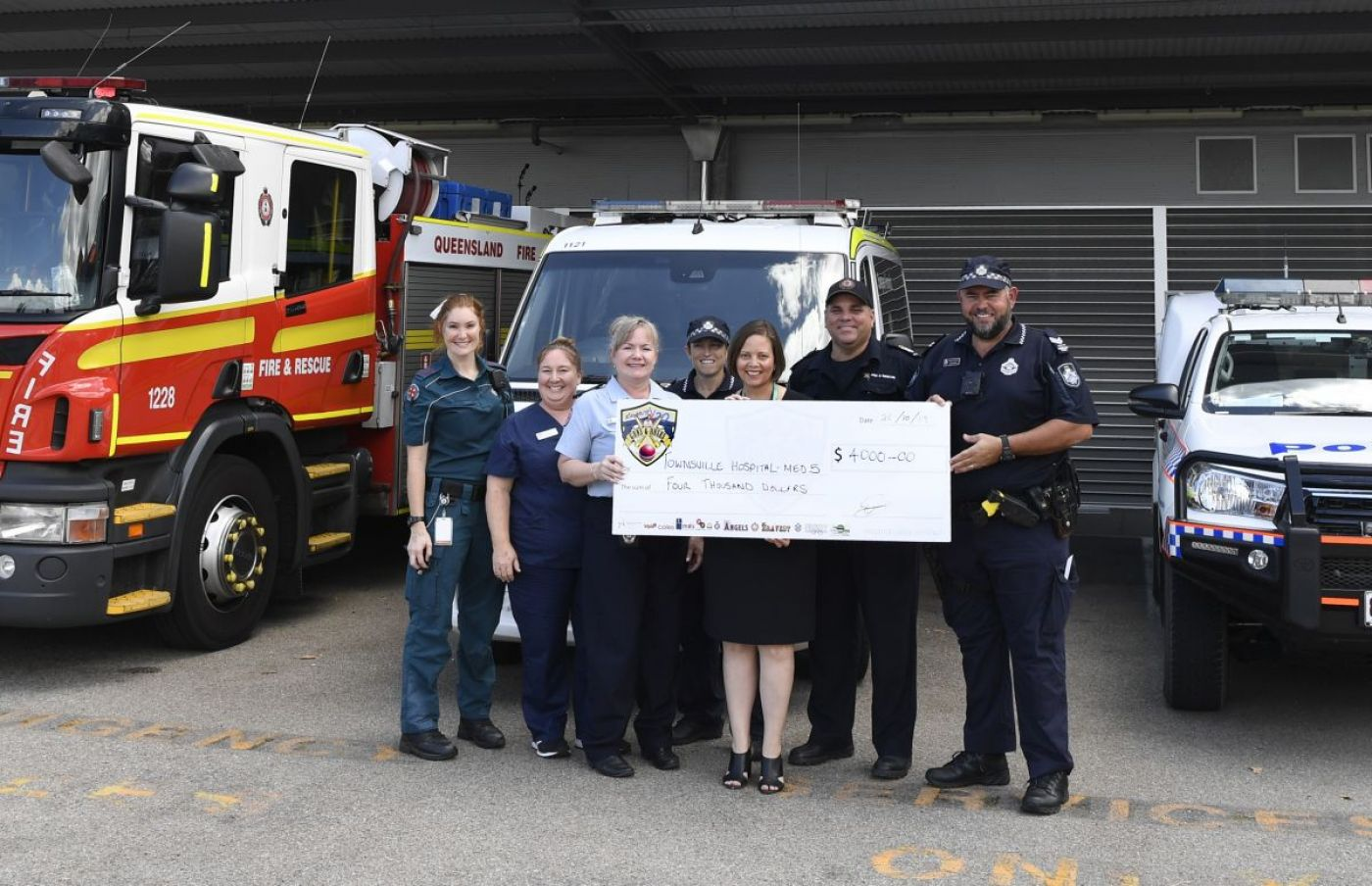 Emergency Services supporting Townsville Hospital Foundation