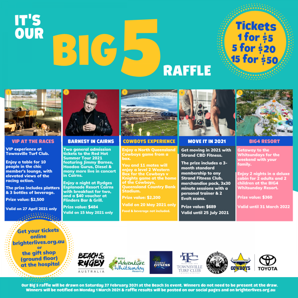 It's our big 5 Raffle Draw