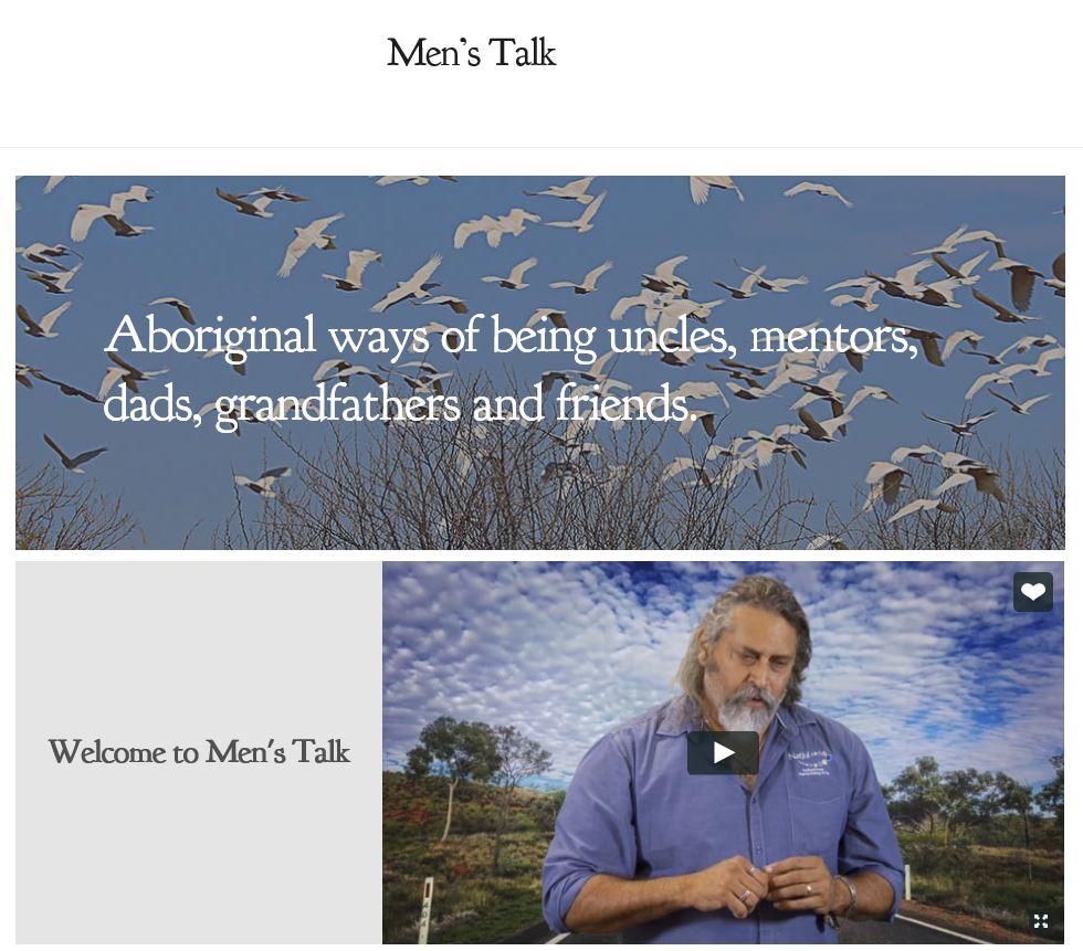 Men's Talk website page