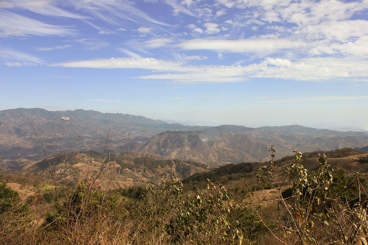 View of the Usulutan region in El Salvador