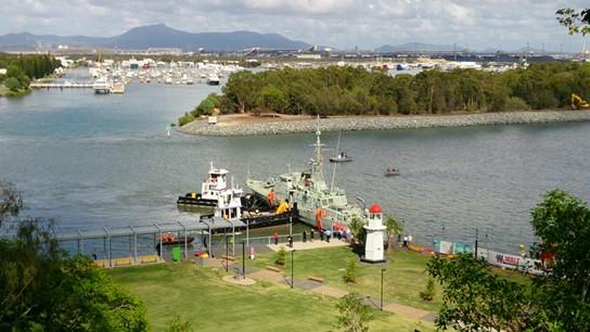 Historic HMAS Gladstone Manoeuvre