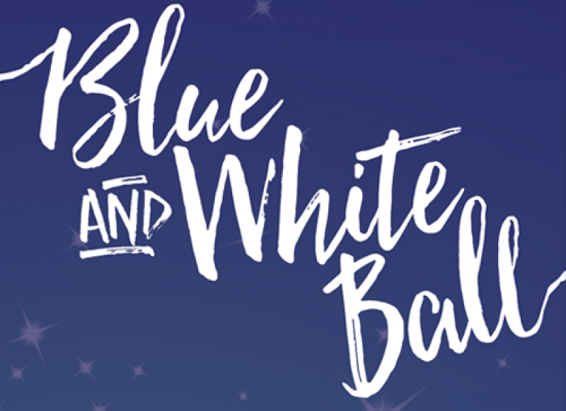 Invitation to Blue and White Ball