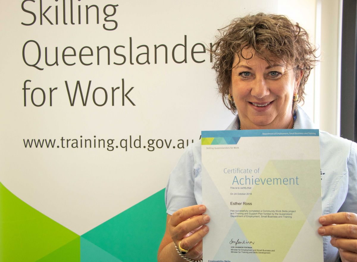 Polly Ross Skilling Queenslanders For Work Training Course Graduation Townsville