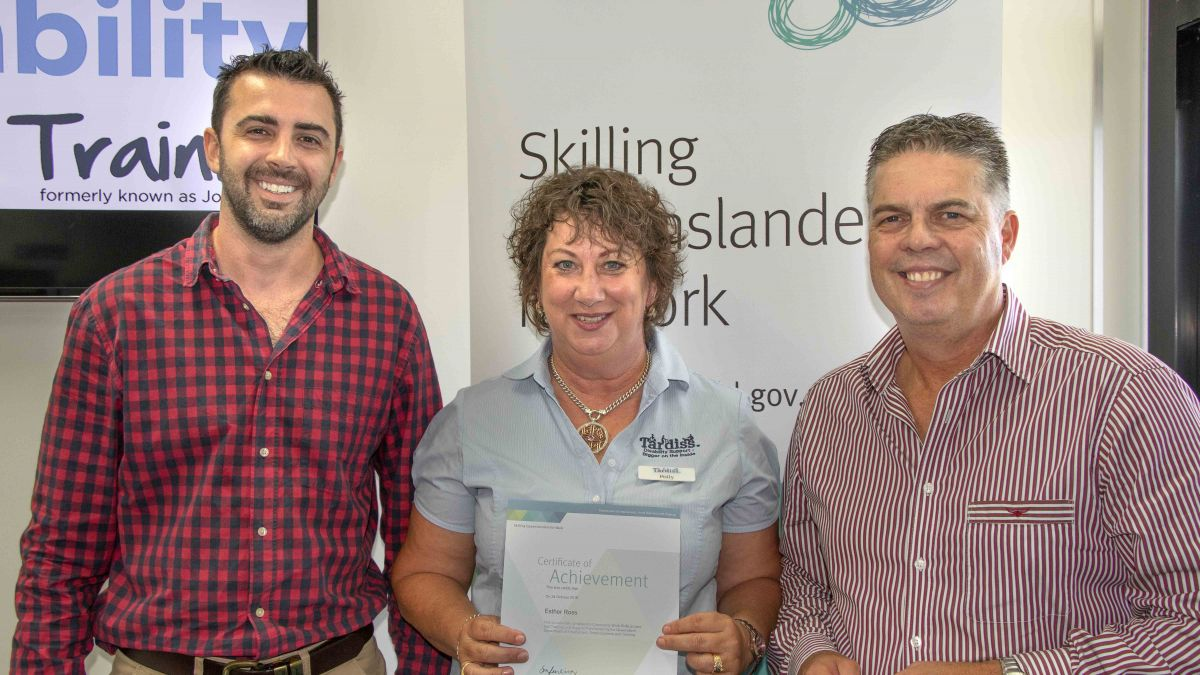 Polly Ross Graduates Certificate III Individual Support Training Course with selectability Training in Townsville