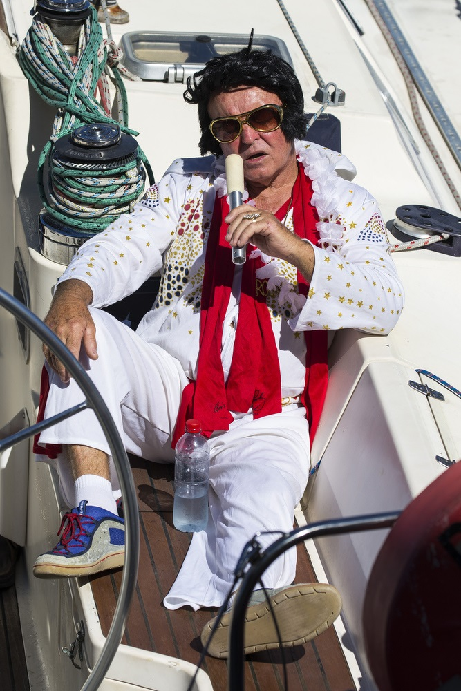 Elvis is in the boat - check the shoes out - Photo Credit Andrea Francolini