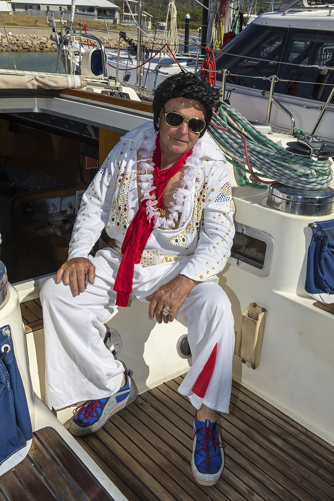 Elvis with his blue suade shoes on Poppy