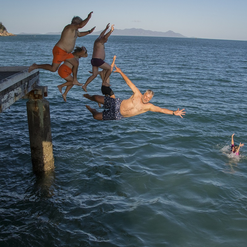 Fancy foot and handwork at the Pier Jumping - Photo Credit Chanelle Robinson