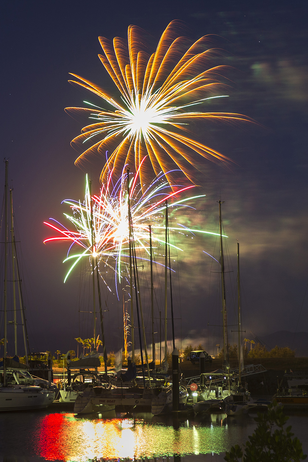 Fireworks set the scene at Magnetic Island - Andrea Francolini, SMIRW