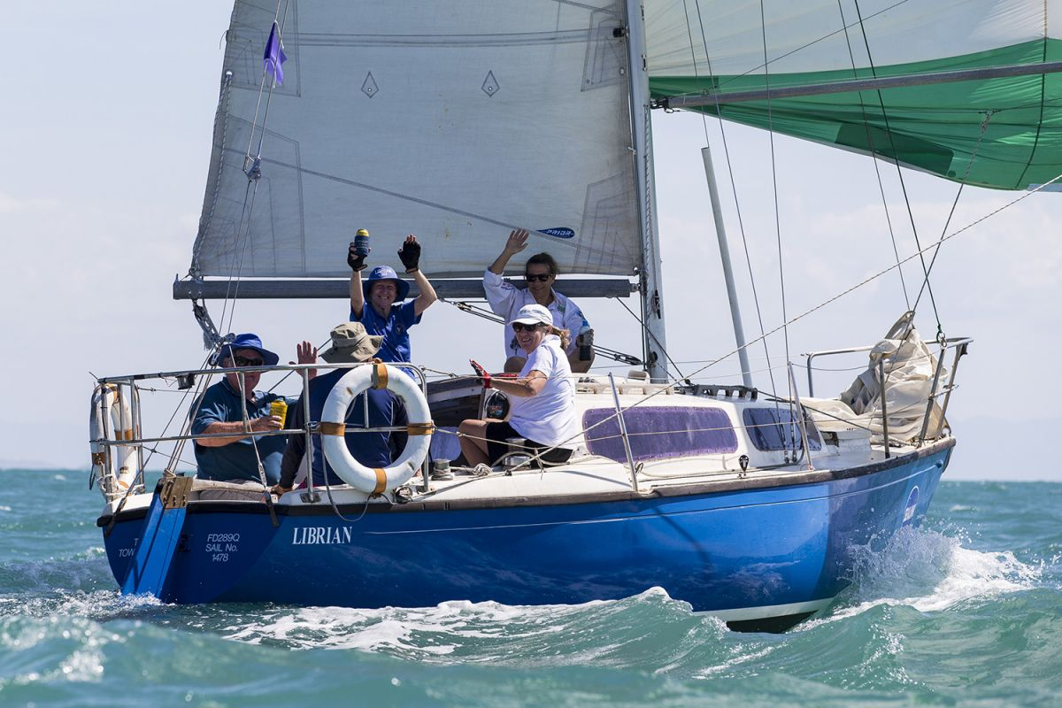 Librian crew waving off their competitors