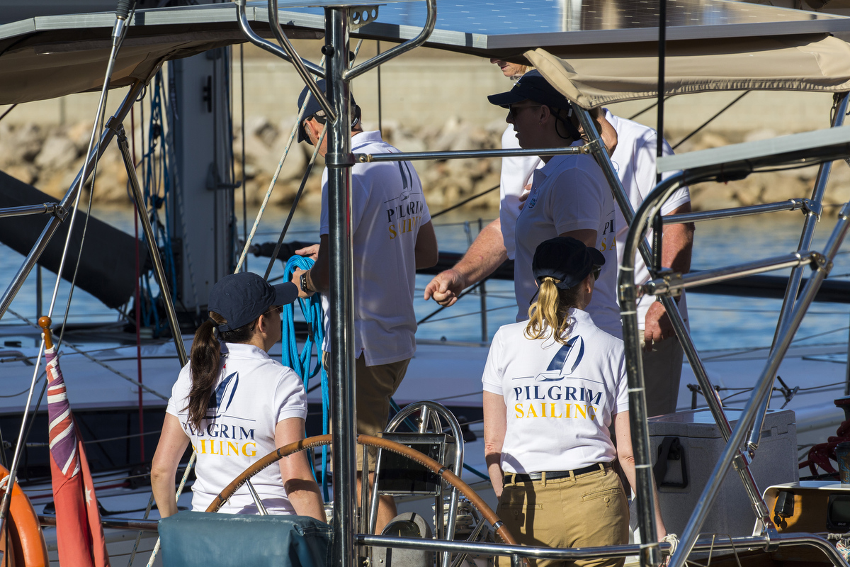 The crew of Pilgrim get an early start - Photo Credit Andrea Francolini