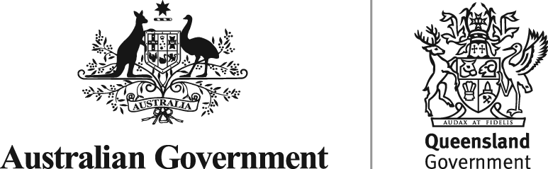 Queensland State and Federal Government logos