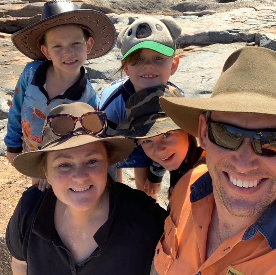 Terri with her husband and three children