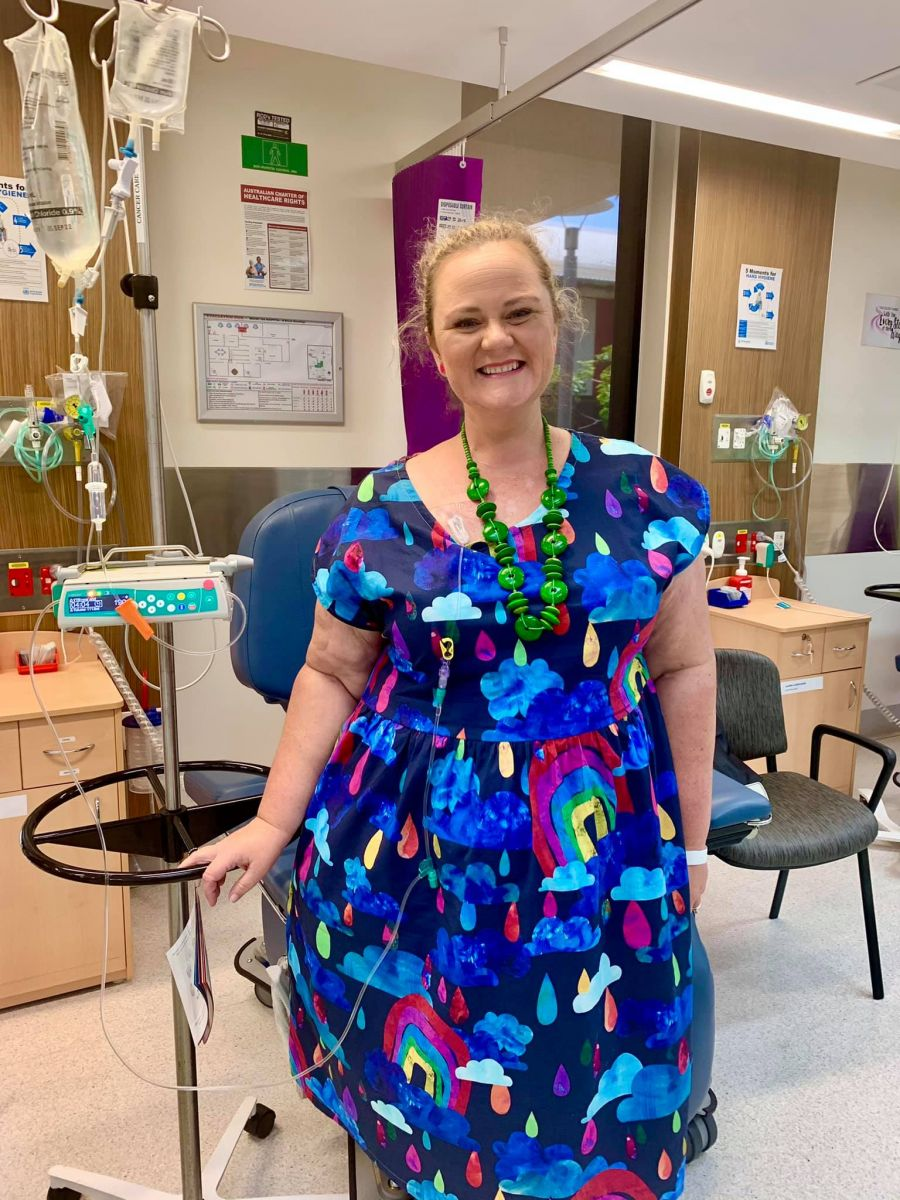 Terri smiling at the Cancer Care Unit in Mount Isa