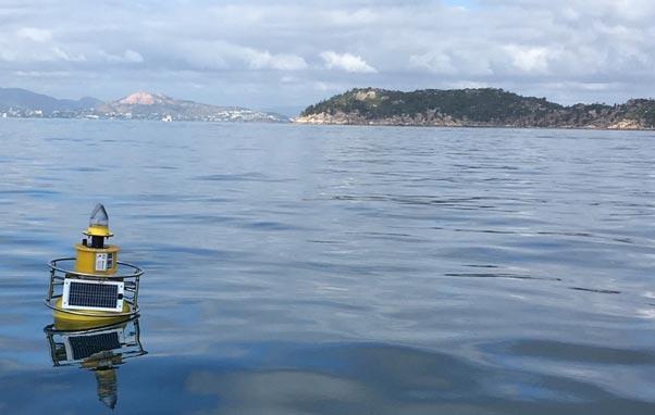 Beagle buoy deployed in Geoffrey Bay.
