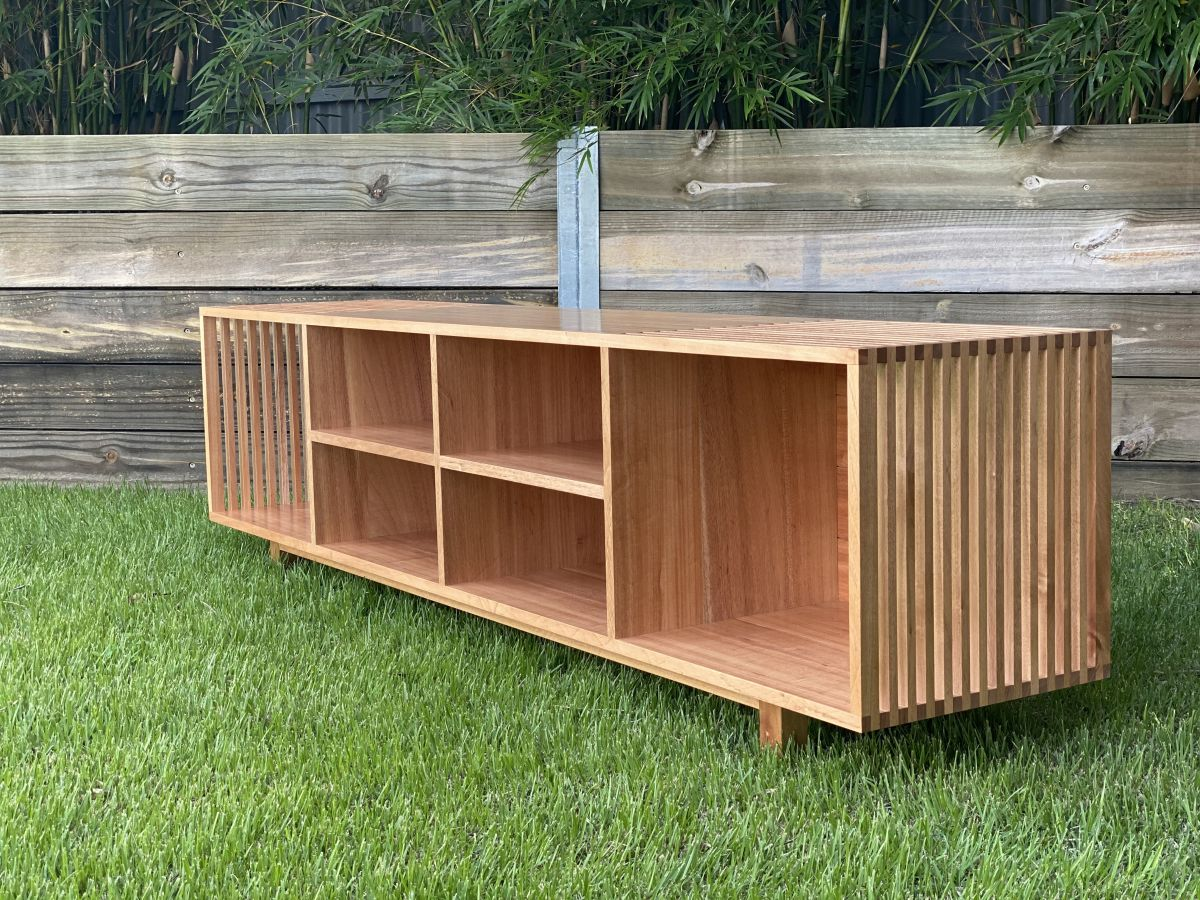Slatted Entertainment Unit