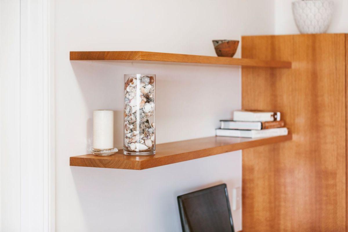 Floating Desk, Cupboards & Shelves