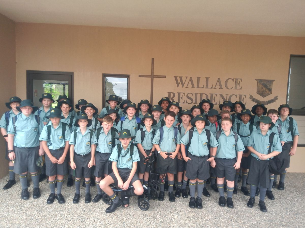 Wallace Boarders on the first day of school.
