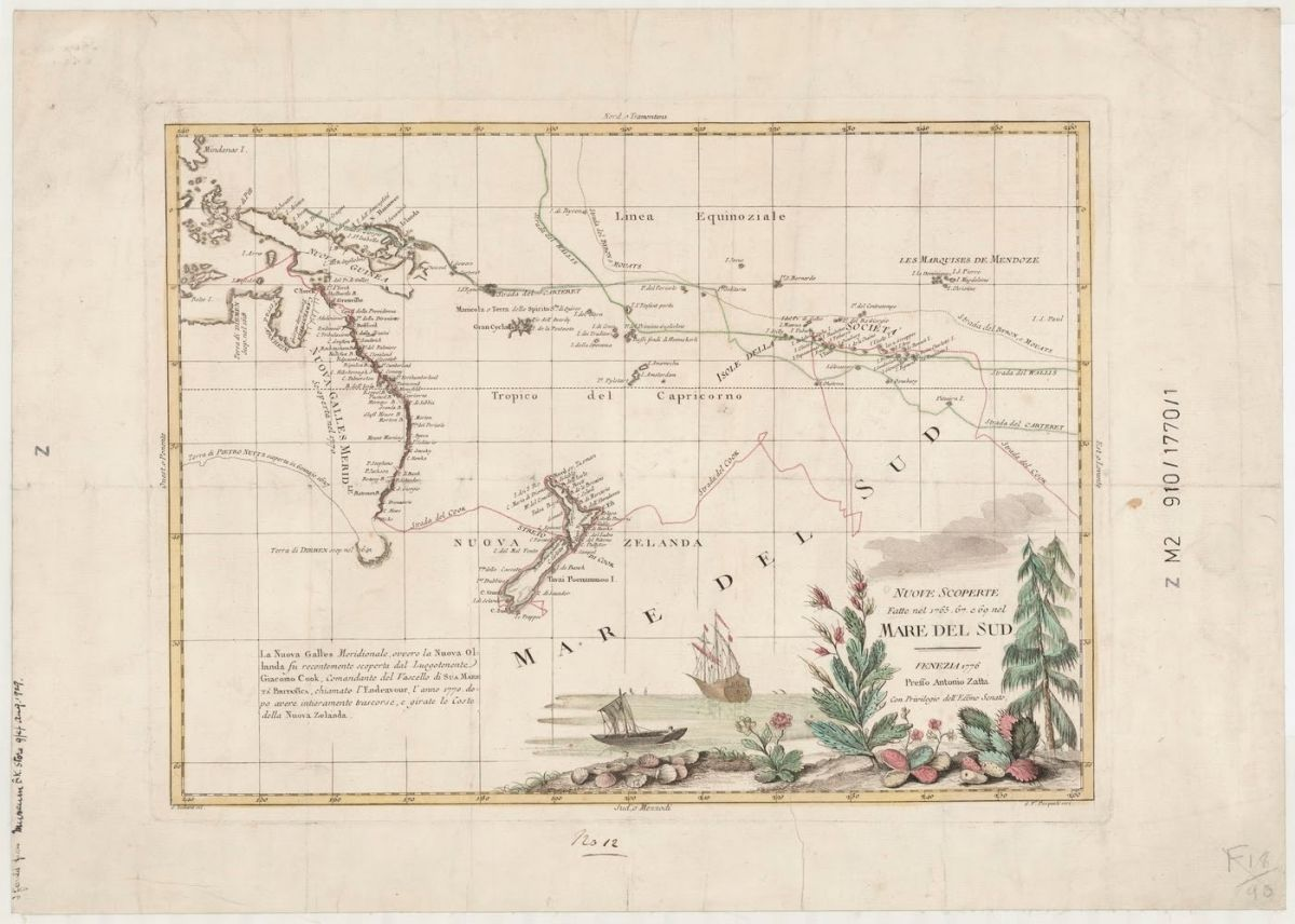 Nuove scoperte fatte nel 1765, 67, e 69 nel Mare del Sud, Antonio Zatta. From the collections of the State Library of New South Wales