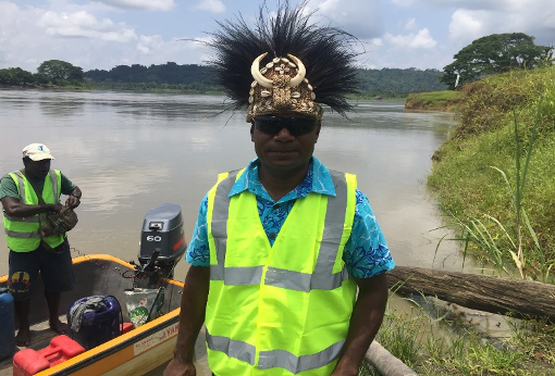 Man with traditional headdress