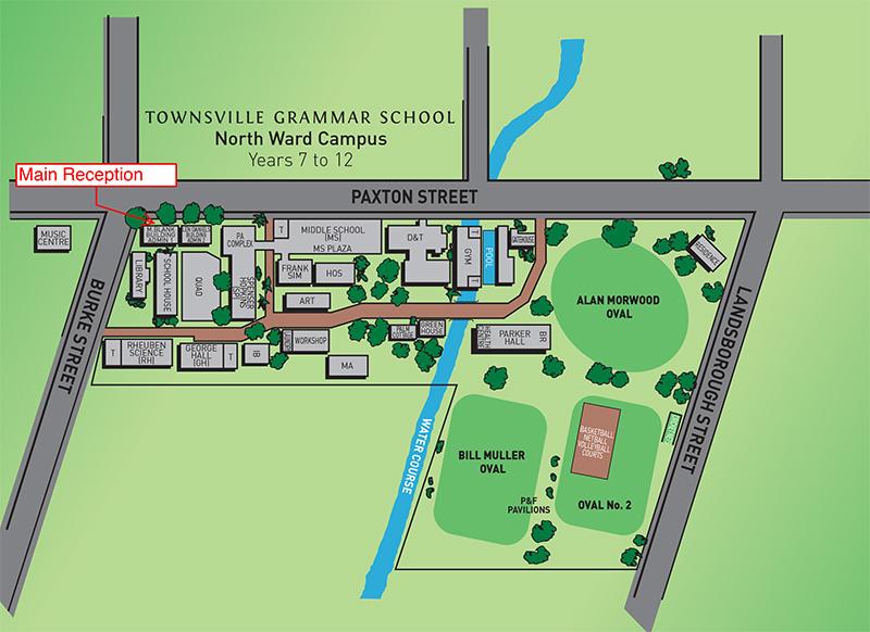 North Ward Map Townsville Grammar School