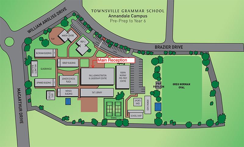 Map Annandale Campus Townsville Grammar School