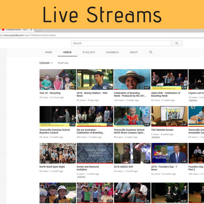 Townsville Grammar School Live streams