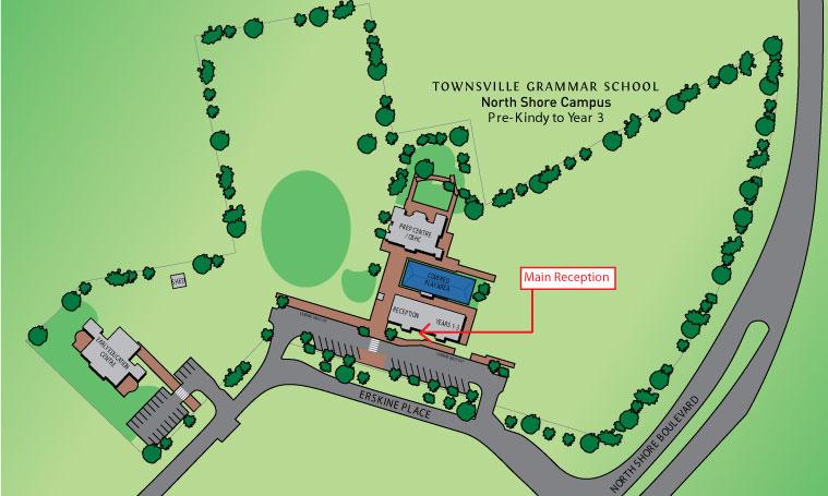 Map North Shore Campus Townsville Grammar School