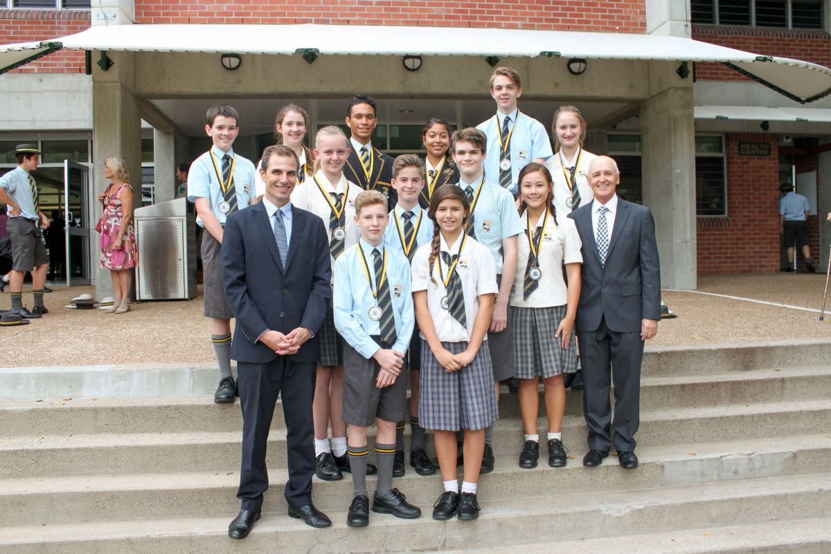 Writing Competition PF Rowland Medalists with Special Guest Mr Ben English, Editor of the Townsville Bulletin
