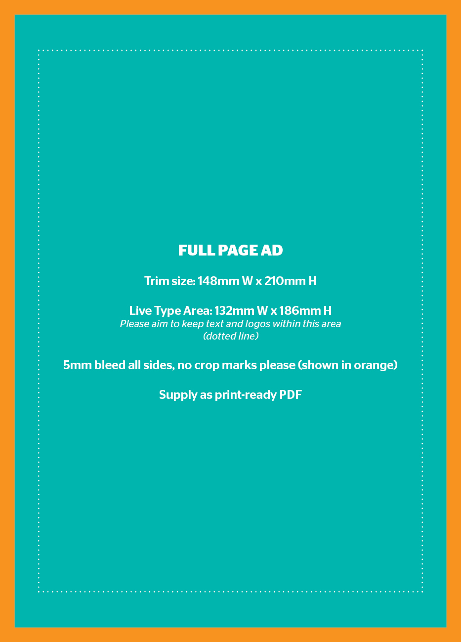 Full page advertisement - Holiday & Travel Guide 2020-2022