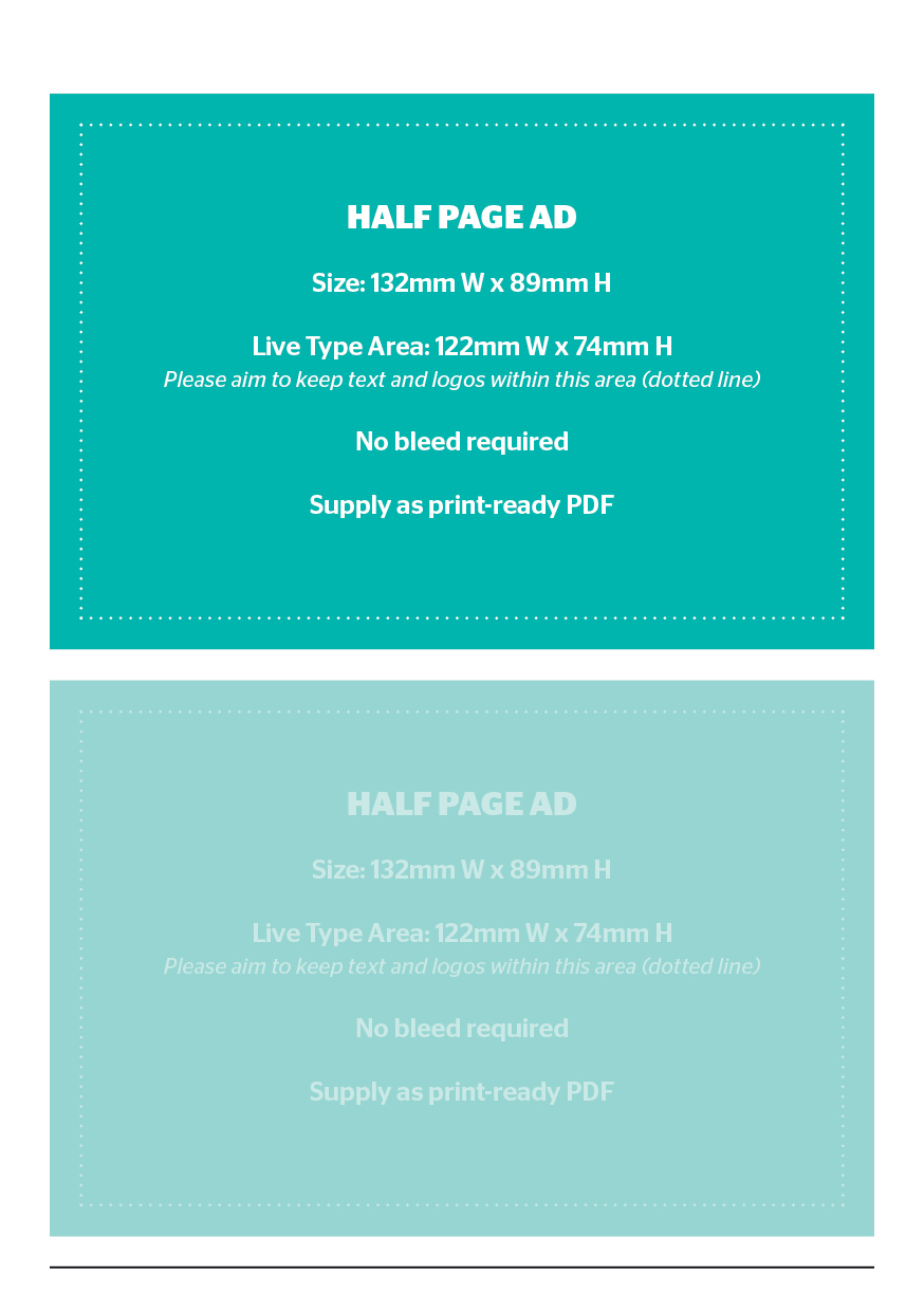 Half page advertisement - Holiday & Travel Guide 2020-2022