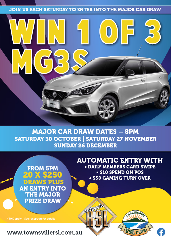 Win 1 of 3 Cars