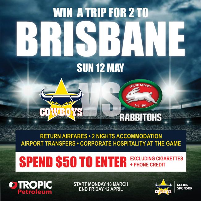 Win a trip to Brisbane to see Cowboys v Rabbitohs